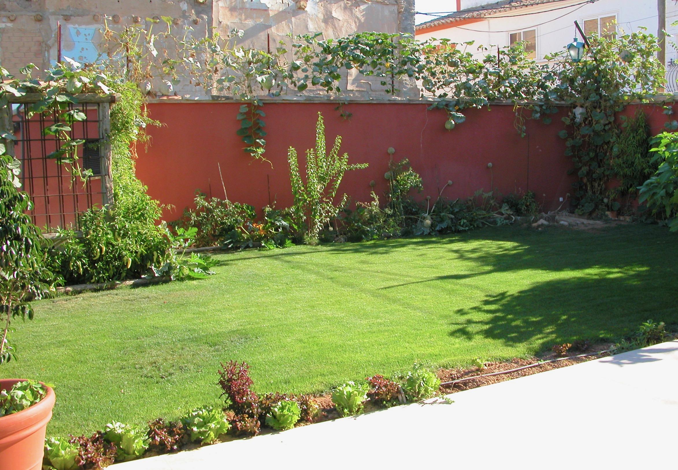 El fondo del jardín